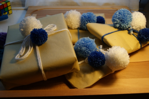 Homemade pompoms and gift tags - two of my favourite things about Christmas this year!