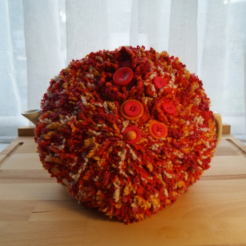 orange tea cosy