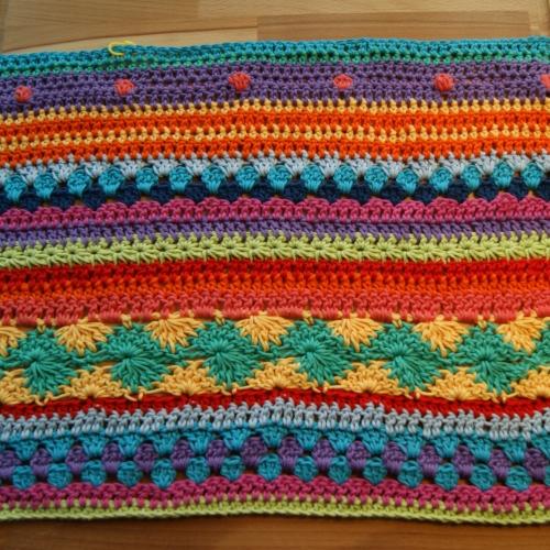 stripy blanket wip