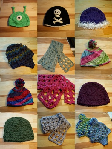 Some of this year's crocheted goodies