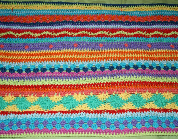 5th February - I love my stripy crochet!