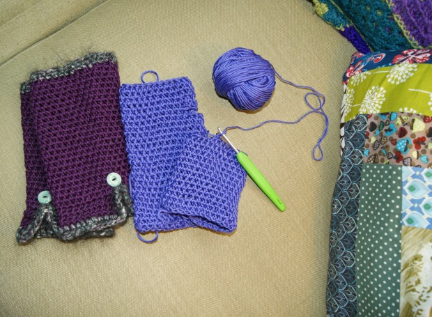 Finished pair on the left, WIP ones on the right.