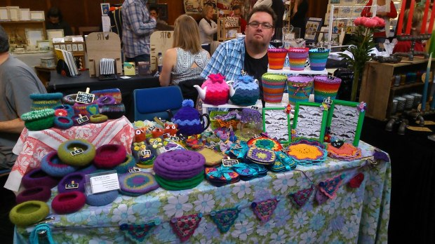 My stall at Brighton Craft Fair