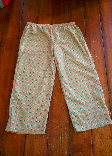 Fox print cotton pyjama bottoms