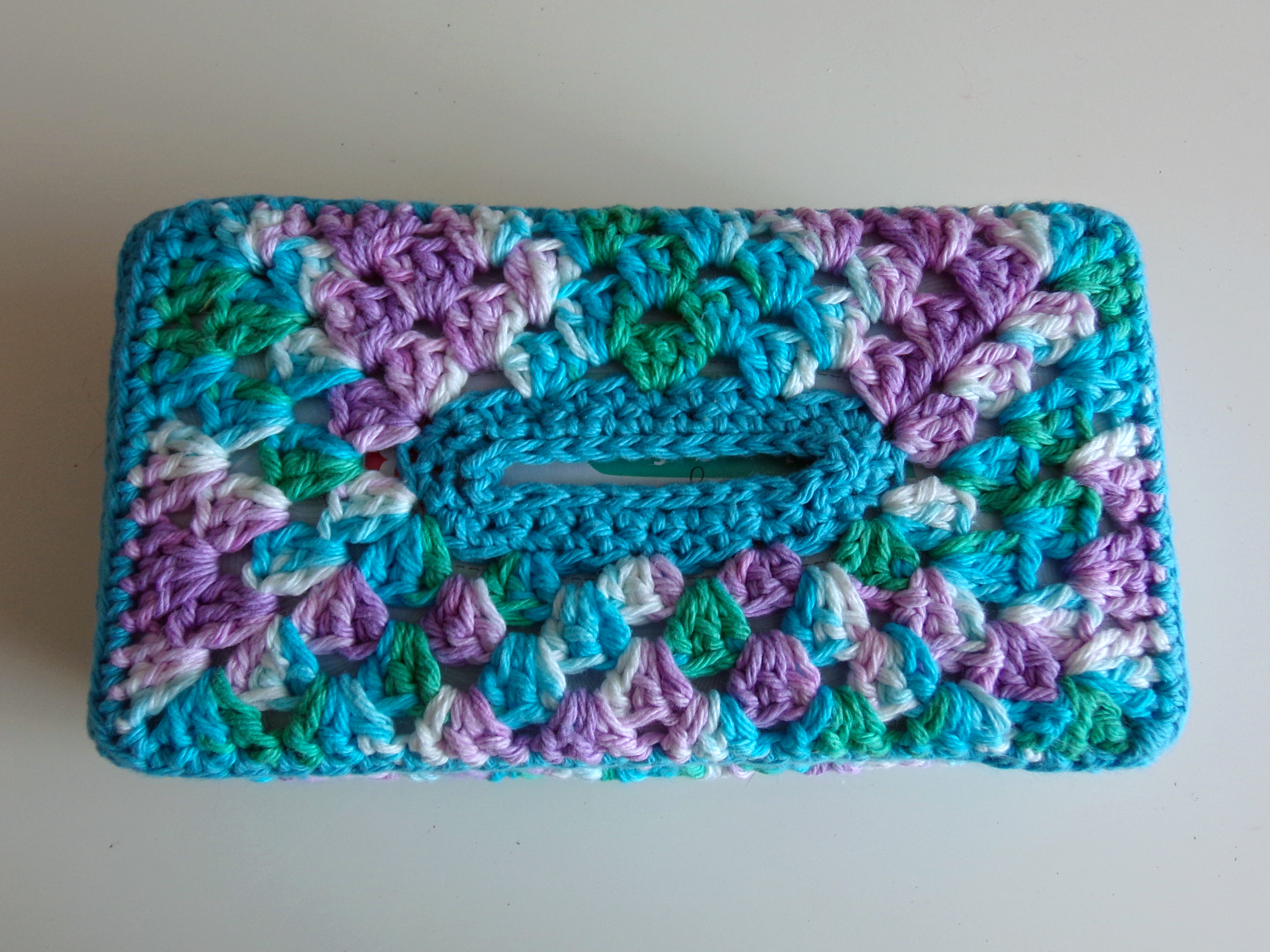 Granny Panel Tissue Box Cover New Pattern Bamcrafts