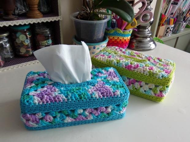 Granny Panel Tissue Box Covers