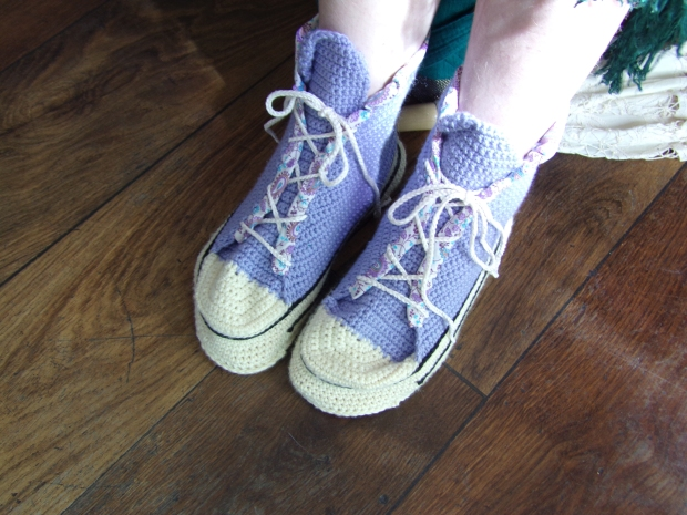 Katie's crochet high tops