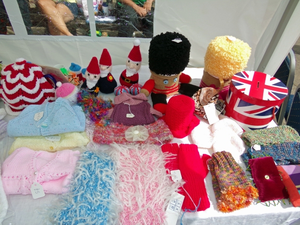 Some of the things our group has made. The gnomes at the back are mine!