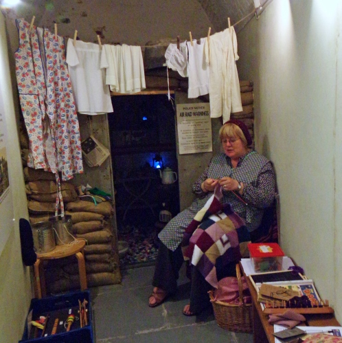 Knitting for Victory in poor light!