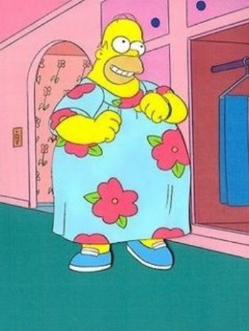 Homer was very happy with his muumuu