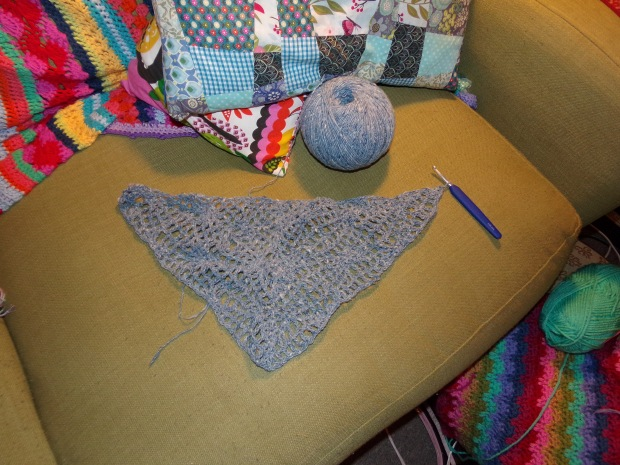 Magic flow crochet shawl WIP