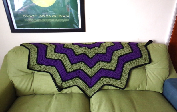 Hulk inspired blanket