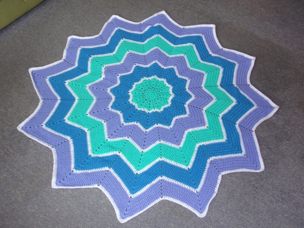 Star shaped ripple blanket