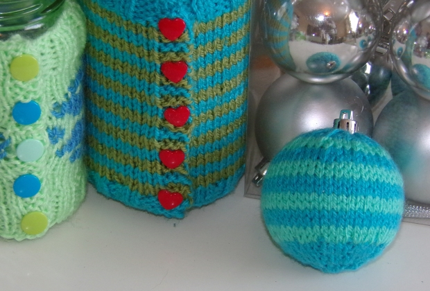 striped knitted bauble