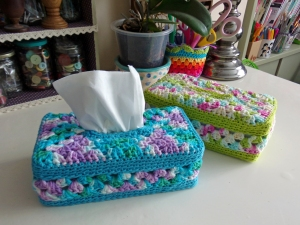 Granny Panel tissue Box Cover