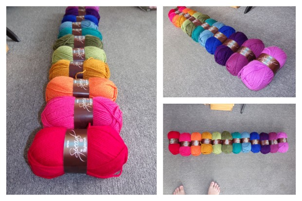 blanket yarn collage