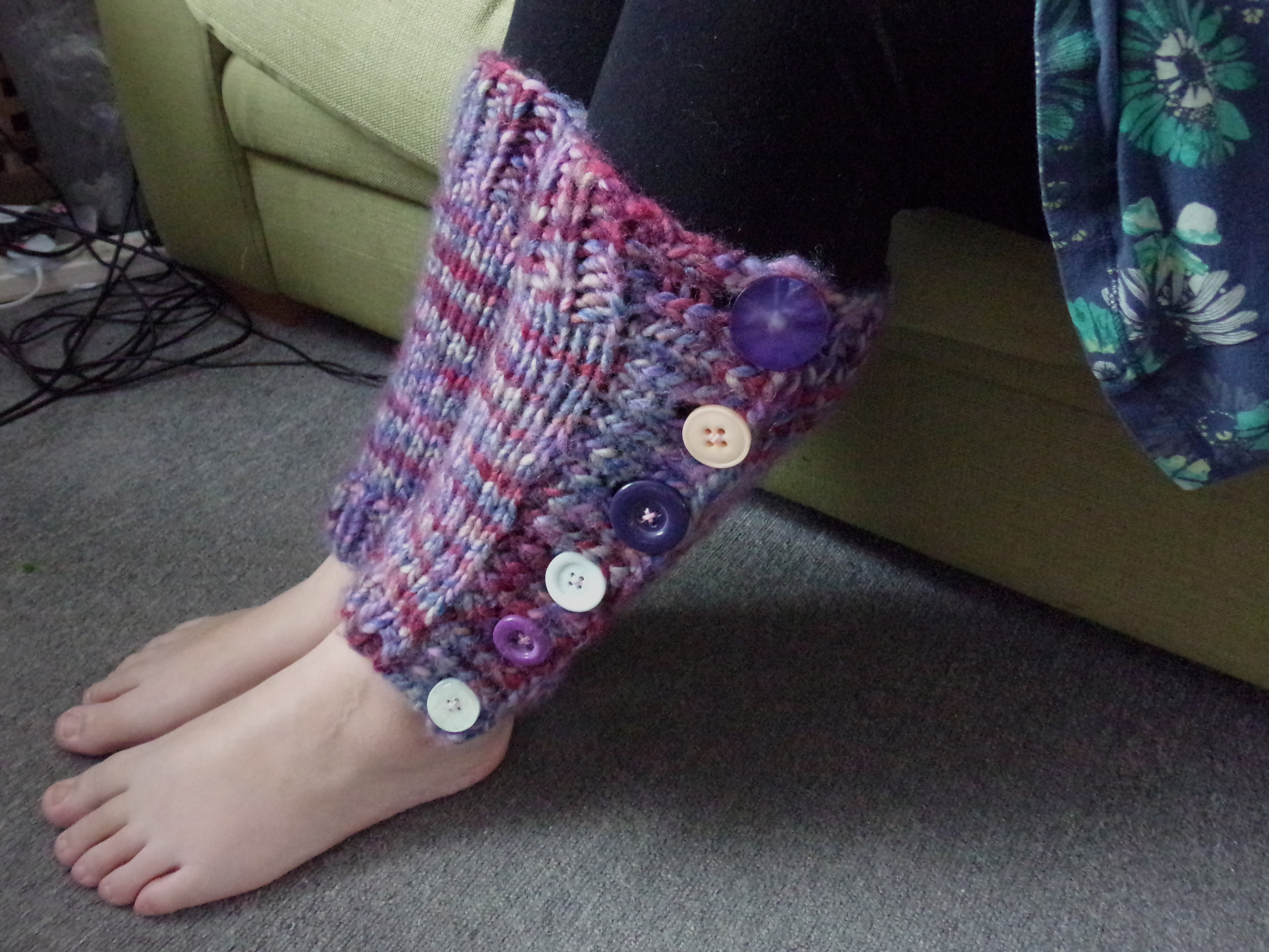 Knitting Pattern For Leg Warmers With Buttons : New knitting pattern: Super simple super chunky leg warmers   bamcrafts