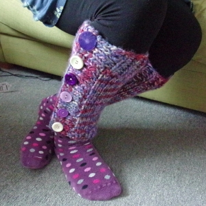 easy super chunky leg warmers