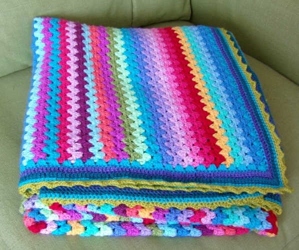Folded Granny Stripe blanket