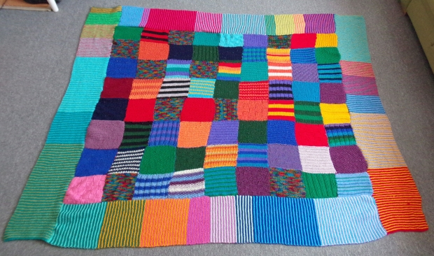 Old Knitted Friend - the patchwork blanket