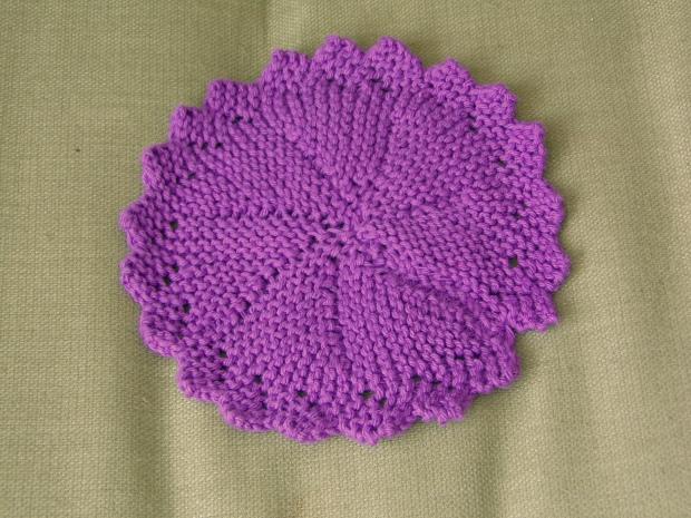 short row knitted washcloth