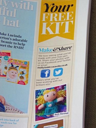 Dolly close up magazine