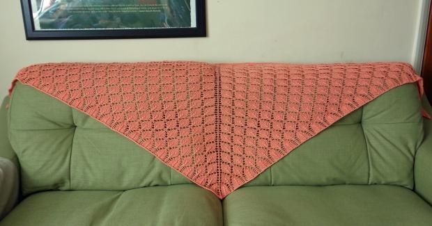 Lacy leaf shawl