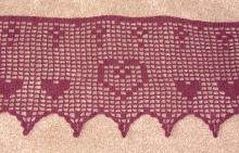 Centre filet crochet heart