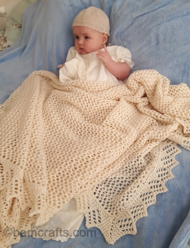 bb's christening shawl