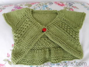 Entrechat knitted baby shrug