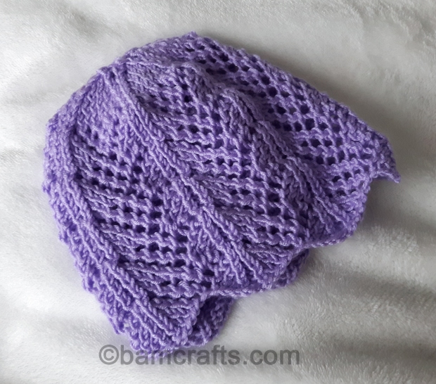 fan lace baby hat