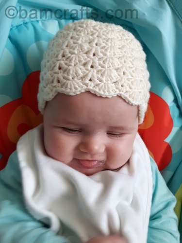 little sister crochet baby hat