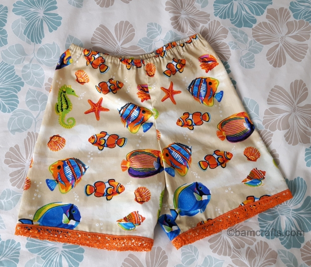 fish baby shorts