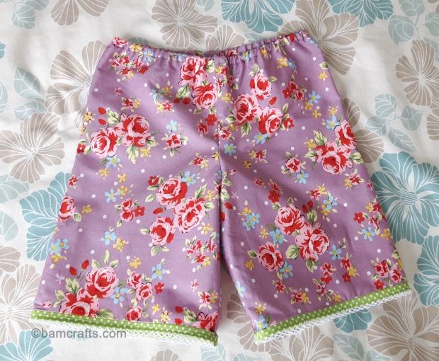 rose baby shorts
