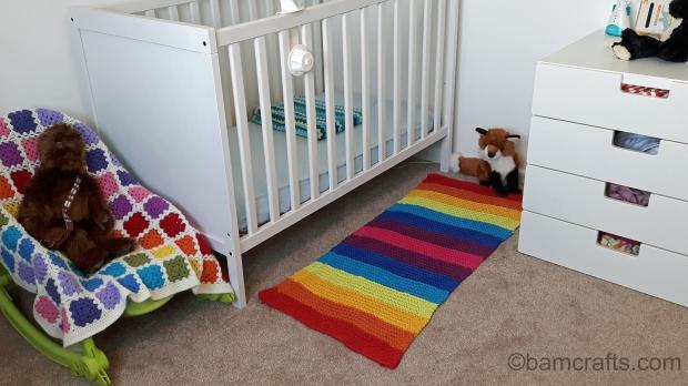 baby room rainbow rug
