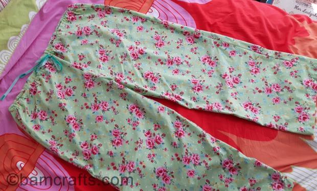 rose pj bottoms
