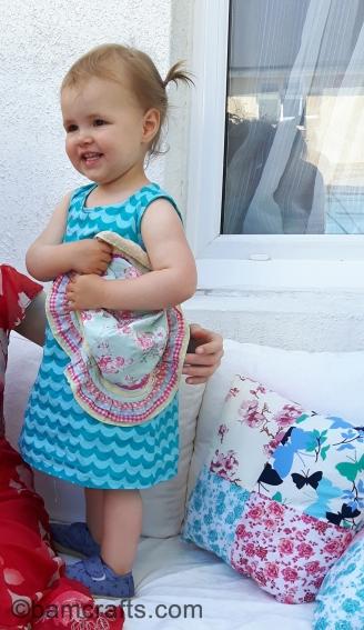 wavy toddler dress